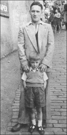 David Bowie and father