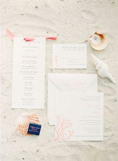 Fun, beachy wedding invitations.  Photo by KT Merry Photography. www.wedsociety.com  #wedding #invites