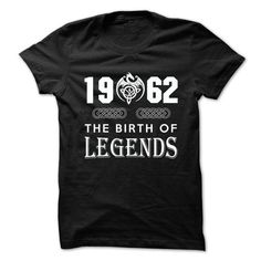 1962 The Birth Of Legends T Shirts, Hoodies. Get it now ==► https://www.sunfrog.com/Birth-Years/1962-The-Birth-Of-Legends.html?41382