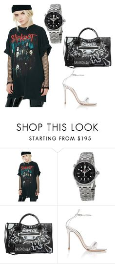 """""""Untitled #299"""" by teya-safi ❤ liked on Polyvore featuring OMEGA, Balenciaga and Gianvito Rossi"""
