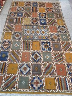 PATCHWORK like Patterned Moroccan RUG  by MARAUTHENTICS on Etsy, $750.00