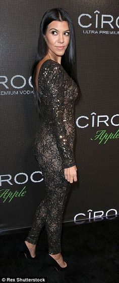 Racy in lace: Kourtney Kardashian turned heads when she showed up to Sean 'Diddy' Combs' b...
