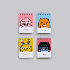 It is Kakao Little friends characters Handy & Pocket notepad. This Sticker is Official Daum Kakao Friends goods. Content: 1 little friends handy notepad. It is 80 pages and lined note. Spiral Line, Kakao Friends, Stationery Design, Back To School, Notes, Cartoon, Pocket, Mini, Industrial Design