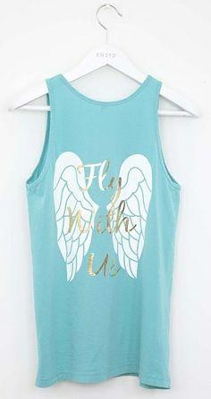 "Pi Beta Phi angels tank ""Fly with us"" #piphi #pibetaphi"