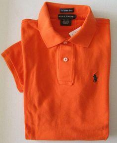 NWT Ralph Lauren The Skinny Polo Short Sleeve Mesh Shirt Orange Size S  #RalphLauren #PoloShirt