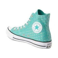 Converse Chuck Taylor All Star Hi Mermaid Sneaker - blue - 399568 Sneakers Outfit Men, Sneakers Mode, Sneakers Fashion, Converse Sneakers, Mermaid Shoes, Mermaid Outfit, Mermaid Clothes, Converse Chuck Taylor All Star, Chuck Taylor Sneakers
