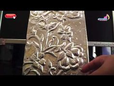 cuadro estilo colonial repujado en aluminio - YouTube