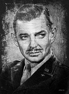Clark Gable Print by Andrew Read