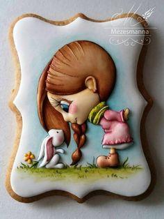 """""""Have a wonderful weekend,& Happy Easter! Paint Cookies, Fondant Cookies, Galletas Cookies, Cookie Frosting, Cupcake Cookies, Cupcakes, Fancy Cookies, Iced Cookies, Cute Cookies"""