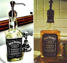 Recycled-Jack-Daniels-Whiskey-Bottle-Soap-Dispenser-1
