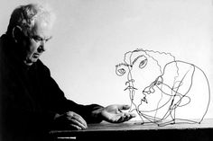 Alexander Calder and his wire portraits- looks like the link is broken but the picture is great.