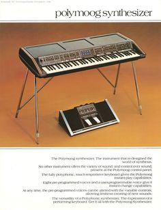 Polymoog - A Retrospective [Page Vintage Synth, Vintage Music, Vintage Keys, Foley Sound, Moog Synthesizer, Yamaha Keyboard, Electric Keyboard, Music Pics, Music Images