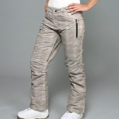 @Overstock - These Pint snowboard pants from Zonal feature an attractive, hemp-colored check pattern on a weatherproof construction. Keep warm, dry and a hold of all your necessities with these multi-pocket active pants.http://www.overstock.com/Clothing-Shoes/Zonal-Womens-Pint-Hemp-Check-Snowboard-Pants/7550218/product.html?CID=214117 $59.99