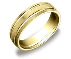Men's 10k Yellow Gold 6mm Comfort Fit Plain Wedding Band with Satin Finish Featuring Two High Polished Center Cuts Amazon Curated Collection. $321.01. Made in the USA
