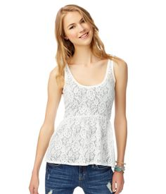 Sheer Floral Lace Tunic from Aeropostale