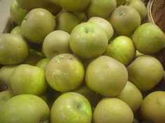 Russet apples! THESE ARE THE TASTIEST APPLES, and they're fresh in at our store this week!