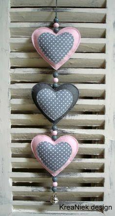colgador de puerta de corazones