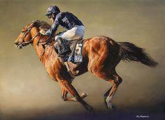 George Washington Limited Edition Horse Racing Print by Sean McMahon