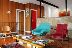 Tim Ross and family - The Design Files Décoration Mid Century, Mid Century Decor, Mid Century House, 1950s Interior, Mid-century Interior, Modern Interior Design, Mid Century Modern Design, Mid Century Modern Furniture, Midcentury Modern