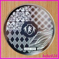 Free Shipping   Stamping Nail Art  10pcs/set  hehe026  Nail Art Stamping Plates hehe001-072