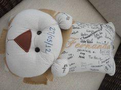 Travesseiro de assinaturas | Adornare Bordados & Bonecas | Elo7