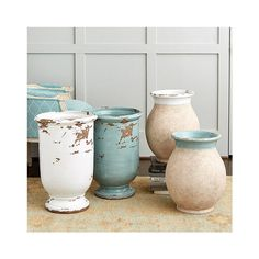 Ballard Designs Trapani Olive Jars (£65) ❤ liked on Polyvore featuring home, kitchen & dining, food storage containers, colored jars and ballard designs