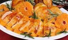 Slavnostní kuře na pomerančích bez přidaného cukru