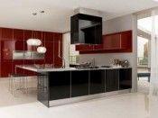Black kitchen design cabinets 1