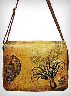 Victorian Octopus Messenger Bag