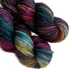 SW Merino, Cashmere and Nylon Aran Yarn - Ministry, 180 yards. $29.00, via Etsy.