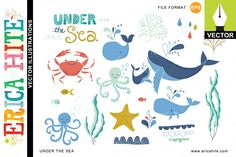 Under the Sea: Vector Art by Erica Hite on Creative Market
