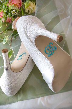 I Do Lace Bride Shoes   www.whitelightphotographic.co.uk