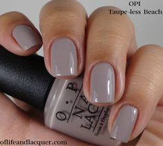 Currently rocking this color! Obsessed!!! Opi gel color in Taupe less beach