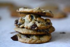 These are by far the best chocolate chip cookies I have ever made from scratch. Chewy...and amazing!