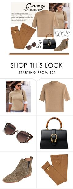 """""""Cozy Up"""" by patricia-dimmick on Polyvore featuring Theory, Gucci, Madewell, Diverso, chelseaboots and cozychic"""
