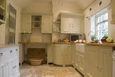 Love this country style painted kitchen