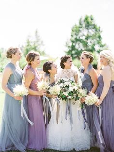 organic + elegant wedding | Annabelle Dress by Jenny Yoo, select colors available at BHLDN | image via: style me pretty