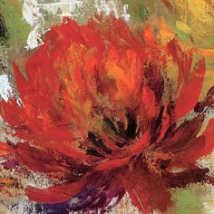 Tangletown Fine Art 'Fiery Dahlias II - Crop' by Silvia Vassileva Painting Print on Wrapped Canvas Painting Prints, Fine Art Prints, Paintings, Canvas Artwork, Canvas Prints, Big Canvas, Canvas Size, Abstract Canvas, Framed Wall Art