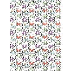 I don't know why but I love bicycle prints..this is great wrapping paper
