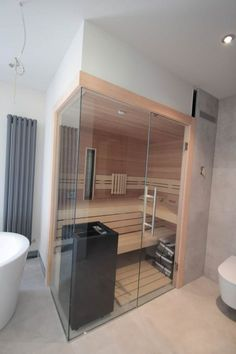 38 Easy And Cheap Diy Sauna Design You Can Try At Home. he prospect of building a sauna in the home may initially sound daunting, but in fact it is a relatively simple project . Diy Sauna, Saunas, Diy Home Decor On A Budget, Cheap Home Decor, Design Sauna, Scandinavian Bathroom, Basement Bedrooms, French Home Decor, Natural Home Decor