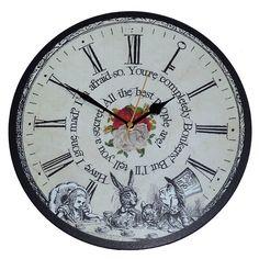 Alice au pays des merveilles-horloge