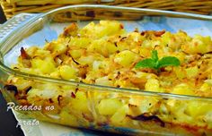 Portuguese Desserts, Portuguese Recipes, Cooking Classes, Deli, Cauliflower, Macaroni And Cheese, Food And Drink, Turkey, Cooking Recipes