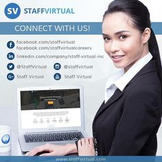 Start growing your business or earn a rewarding career with us!  #StaffVirtual #StaffVirtualCareers #BPO #Outsourcing www.staffvirtual.com