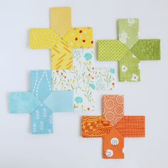 EPP Template // make a mini plus quilt with unique piecing