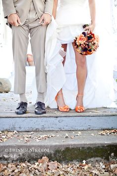 Love how he's copying her. And now I'm angry I didn't wear orange shoes in my wedding!
