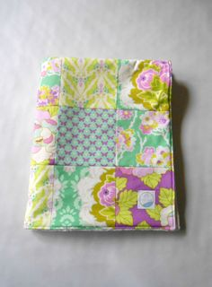 Brand new minky baby girl patchwork sewn in Free Spirit's new Lottie Da prints. Great butterflies and flowers on this one. Interlined with Warm & Natural cotton batting and backed with Shannon Fabrics' Ivory Dimple Dot Minky...in my Etsy shop now ready to ship!