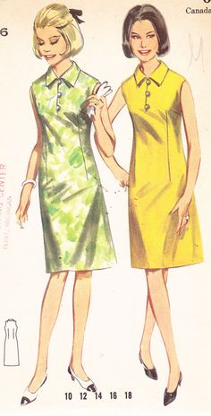 1960's Womens Mod ALine Dress Vintage Sewing by Sutlerssundries, $7.99