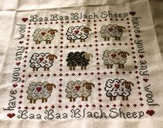 Sheep Cross Stitch by whatsupcupcake, via Flickr