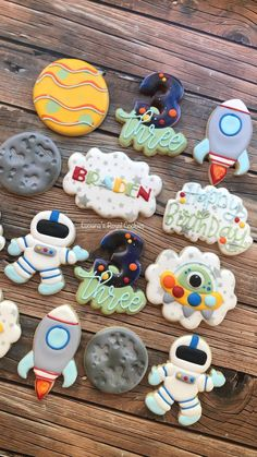 2nd Birthday Party Themes, Baby Boy 1st Birthday, First Birthday Parties, First Birthdays, Kids Birthday Themes, Birthday Party Decorations, Space Party, Space Theme, Birthday Cookies