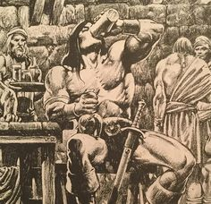 "The Savage Sword Of Conan on Instagram: ""The Savage Sword of Conan No. 80 (September 1982). Art by Alfredo Alcala.  #savageswordofconan #conanthecimmerian #conanthebarbarian…"" High Fantasy, Fantasy Art, Comic Books Art, Comic Art, Conan The Barbarian Comic, Conan O Barbaro, Vikings, Heavy Metal Art, Ligne Claire"